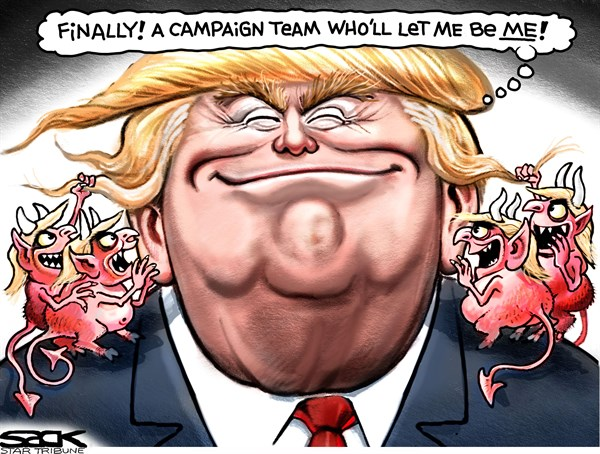 Trump being himself Steve Sack, The Minneapolis Star Tribune