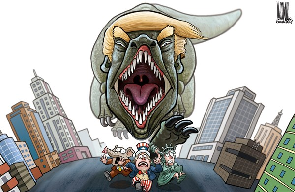 TRUMP GODZILLA Luojie China Daily China