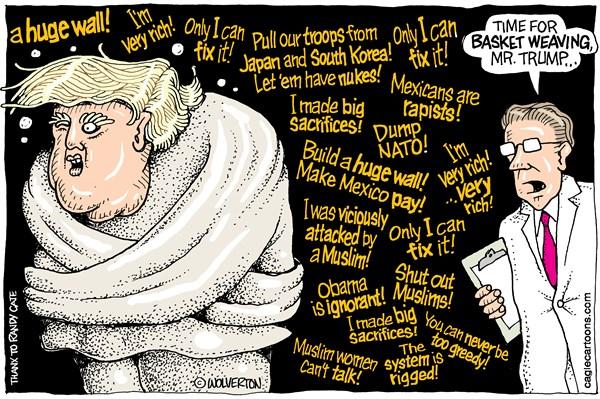 Trumps sanity Wolverton Cagle Cartoons