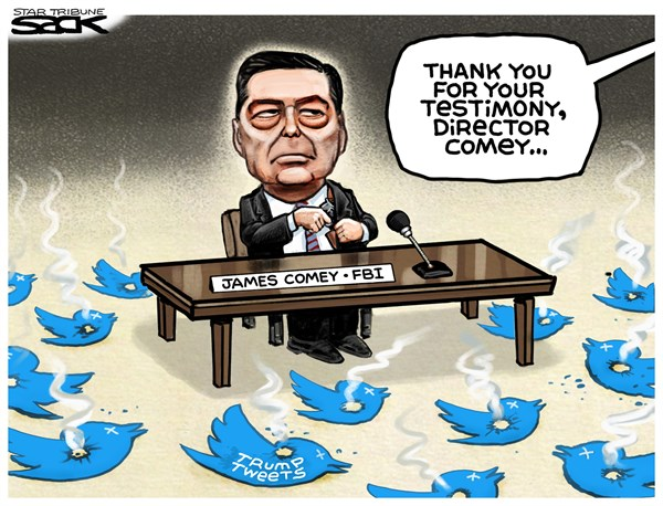 Lies shot down by Comey Steve Sack The Minneapolis Star Tribune
