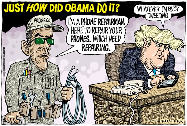 Obama Wire tapping Wolverton Cagle Cartoons