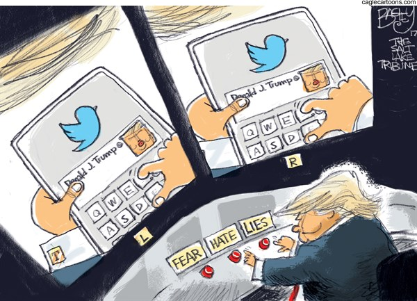Trump Fear hate Lies Pat Bagley Salt Lake Tribune