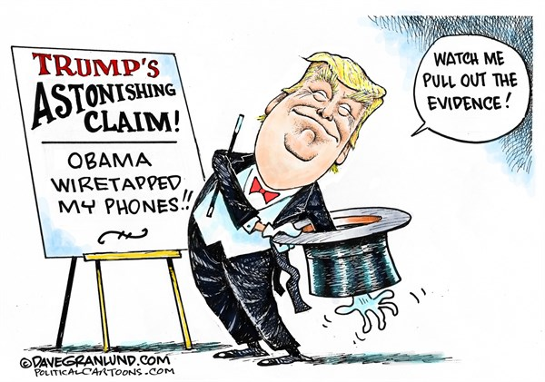 Trump Magic Show Dave Granlund Politicalcartoons com