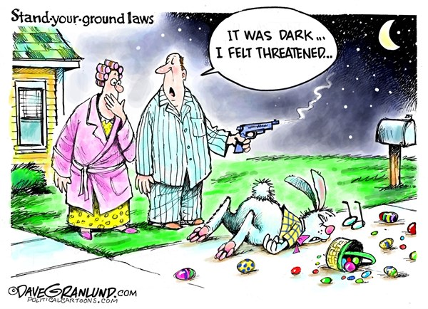 Easter Bunny Gunned Down Dave Granlund Politicalcartoons com