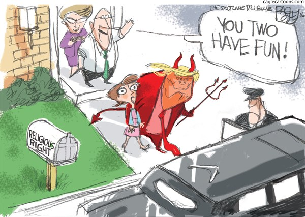 Religious Right and Trump Pat Bagley Salt Lake Tribune