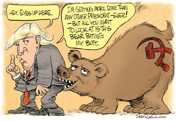Russia Bear Biting Trump's Butt
