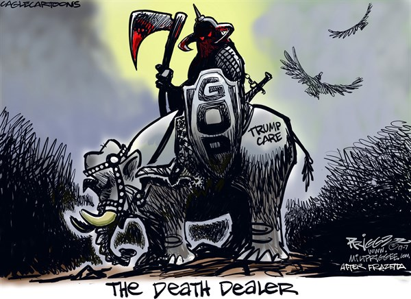 The Death Dealer Milt Priggee www miltpriggee com