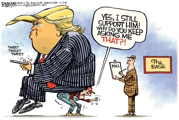 Trump's base Rick McKee The Augusta Chronicle