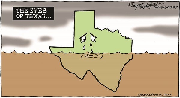 Houston Flood Bob Englehart CagleCartoons com