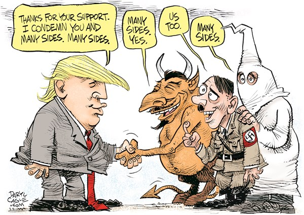 Trump and his many sides rebuke Daryl Cagle CagleCartoons com