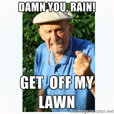 DAMN YOU RAIN GET OFF MY LAWN