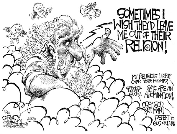 God Fearing Religion John Darkow PoliticalCartoons com