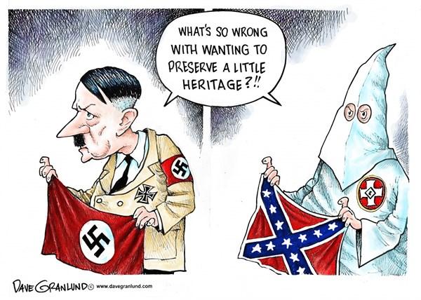 Confederate flag and heritage Dave Granlund Politicalcartoons com
