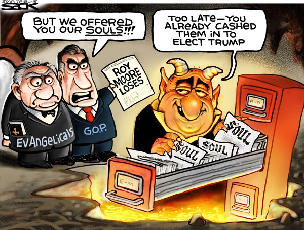 Evangelicals an Moore in Hell Steve Sack The Minneapolis Star Tribune