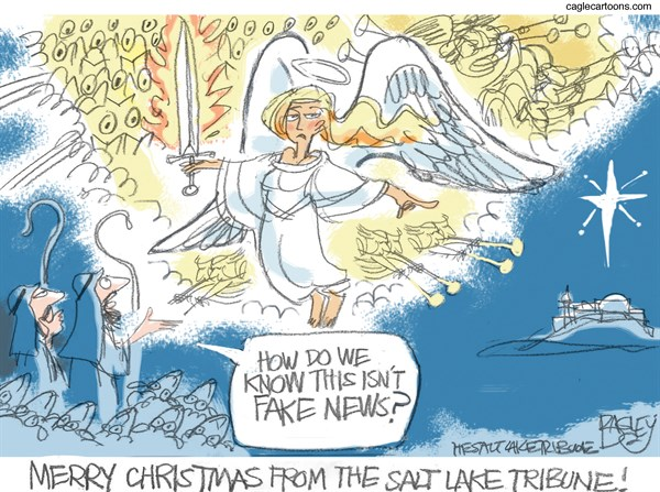 News of Jesus Birth Pat Bagley Salt Lake Tribune