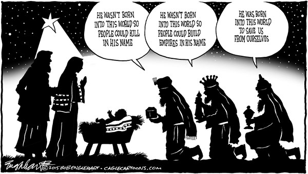 Save us from ourselves Bob Englehart PoliticalCartoons com