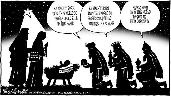 Save us from ourselves Bob Englehart PoliticalCartoons com