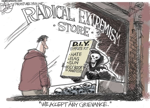 Christian Radicalization Pat Bagley Salt Lake Tribune