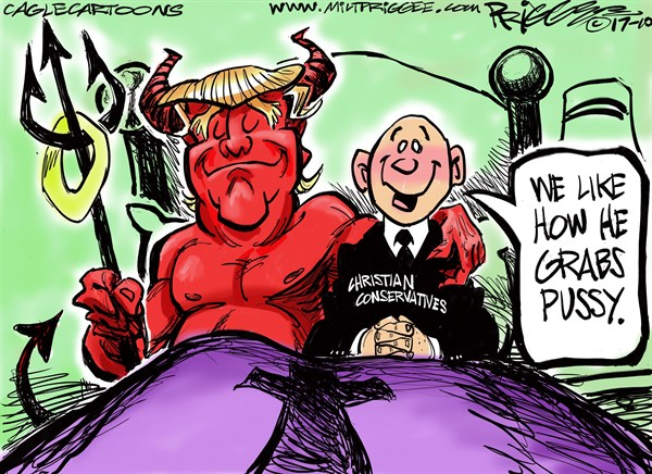 Conservatives and the Devil Milt Priggee www miltpriggee com