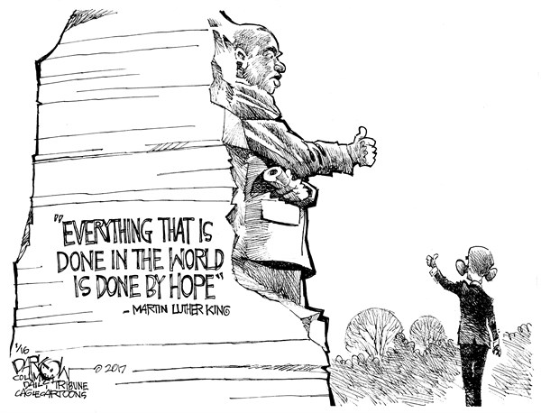Dr king and President Obama John Darkow PoliticalCartoons com