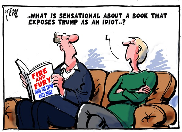 Fire and Fury Cartoon Tom Janssen The Netherlands