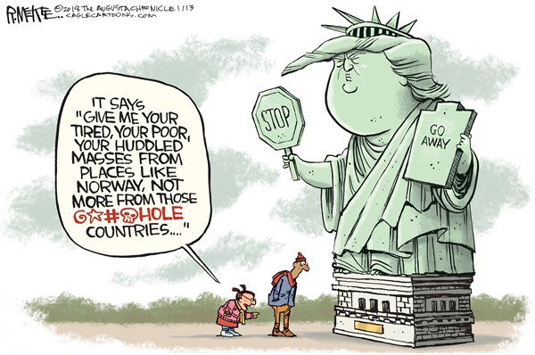 Refugee Types Rick McKee The Augusta Chronicle