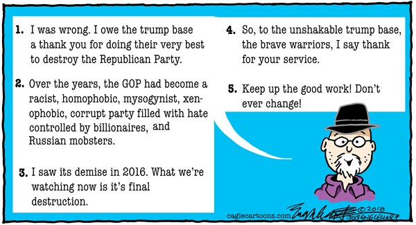 Thank you Trump Supporters Bob Englehart CagleCartoons com