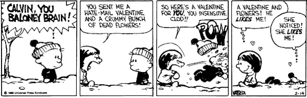 Calvin Hobbes V day Waterson