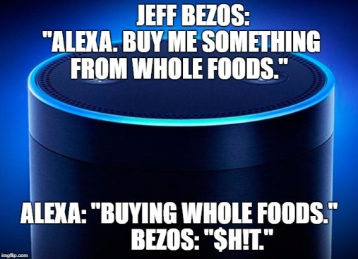 Bezos buying whole foods via alexa