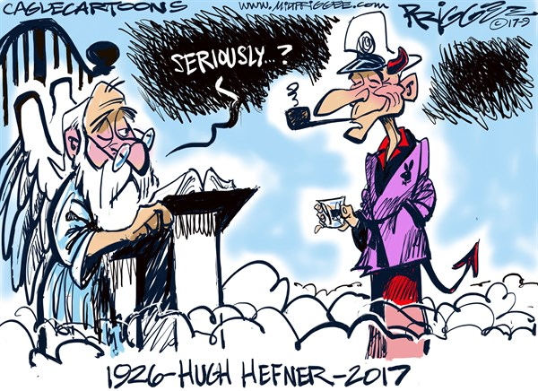 Hugh Hefner Milt Priggee Oak Harbor WA