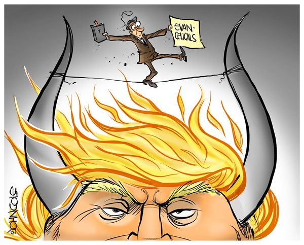 Evangelicals John Cole PoliticalCartoons com
