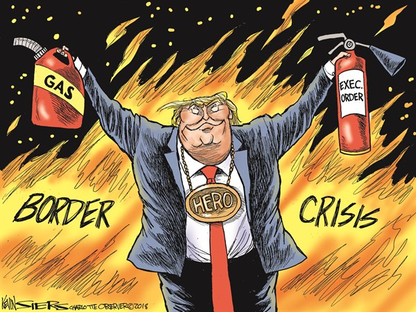 border crisis Kevin Siers The Charlotte Observer, NC