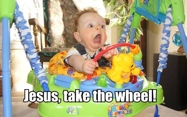 Jesus take the wheel prayer meme