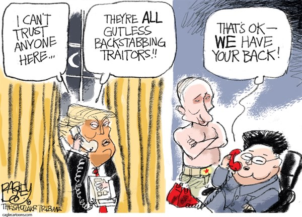 Traitor Friends Pat Bagley The Salt Lake Tribune UT