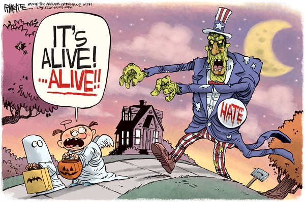 Hate It is Alive Rick McKee The Augusta Chronicle GA