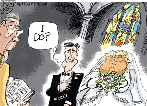 Romney and Trump Pat Bagley The Salt Lake Tribune UT