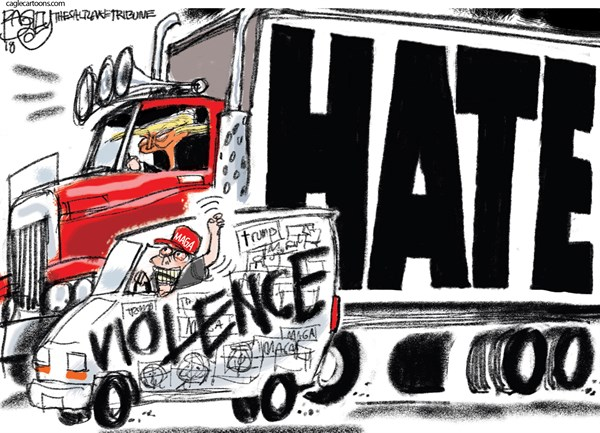 Trump inspired Hate Pat Bagley The Salt Lake Tribune UT